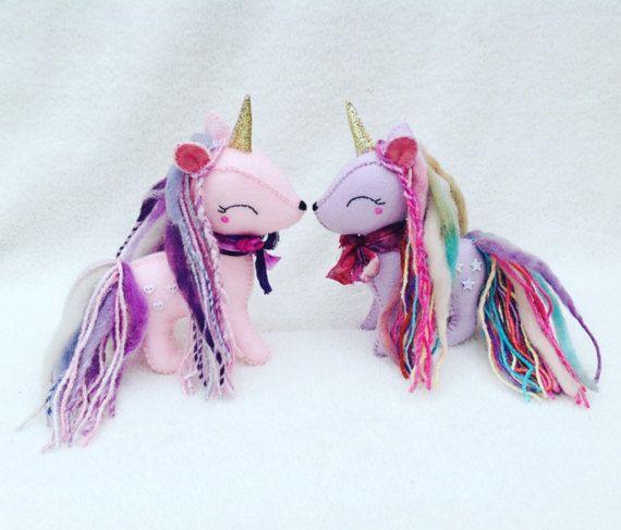 MADE TO ORDER Fancy Unicorn Felt Unicorn by UnicornGardenDolls