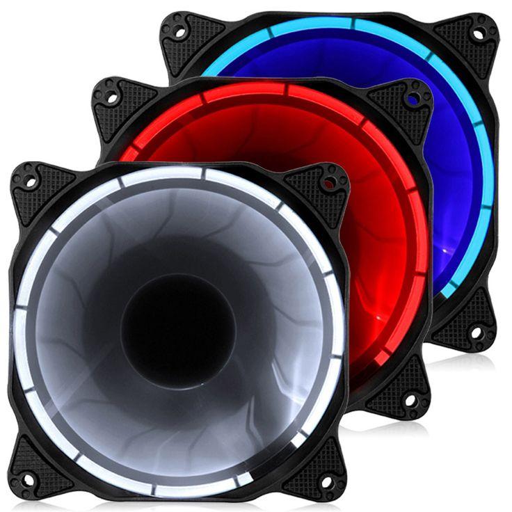 LED RGB 12CM chassis radiator fan 4PIN debugging