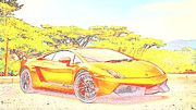 "New artwork for sale! - "" Lamborghini Gallardo Superleggera by PixBreak Art "" - http://ift.tt/2m1yD8a"