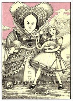 the bases for the characters of lewis carrolls alice in wonderland Alice's adventures in wonderland lewis carroll buy  she is the principal character alice's sister she reads the book without pictures or conversations alice's .