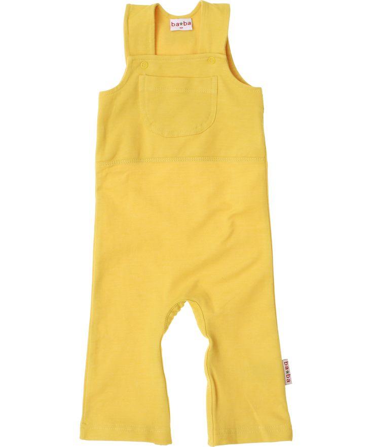Super salopette rétro en jaune par Baba Babywear. baba-babywear.fr.emilea.be