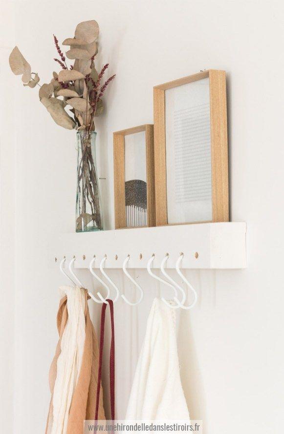 DIY étagère porte manteau | Une hirondelle dans les tiroirs