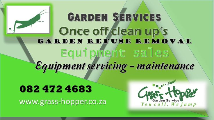 We are an owner managed business offering garden services,once off clean up's, garden refuse removal, equipment sales and equipment servicing/maintenance