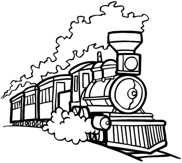 Old Train Coloring Pages Train Drawing Train Vector Train Coloring Pages