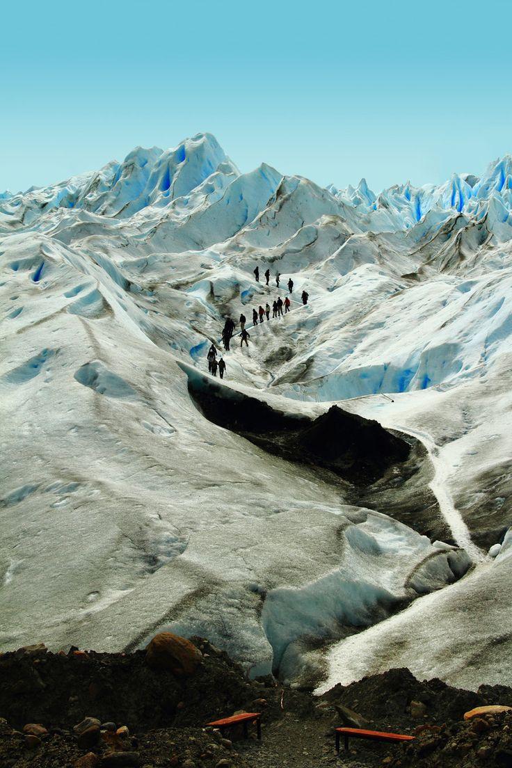 Trekking on Ice, atop Perito Moreno glacier, El Calafate, Patagonia, Argentina