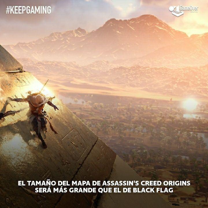 El mapa de Assassin's Creed Origins será más extenso que el de Assassin's Creed 4: Black Flag. #ACOrigins #AssassinsCreed #AC #XboxOne #PS4 #PC #XboxOneX #PS4PRO #gaming