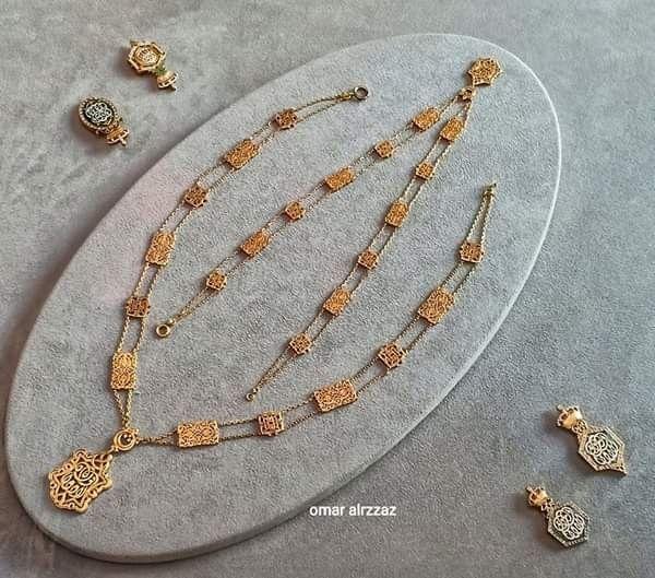 قلاده للملك فؤاد الأول من الذهب الخالص يتم ارتدائها فوق الوشاح الأكبر والملابس التشريفيه للملك Reem Jewelry Gold Necklace Gold