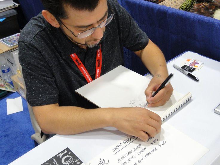 Love and Rockets cartoonist Jaime Hernandez at the 2011 San Diego Comic-Con