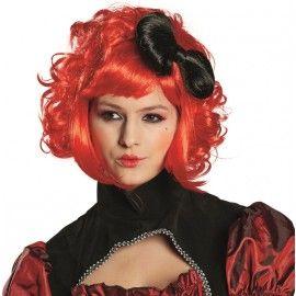 Perruque poupée rouge femme