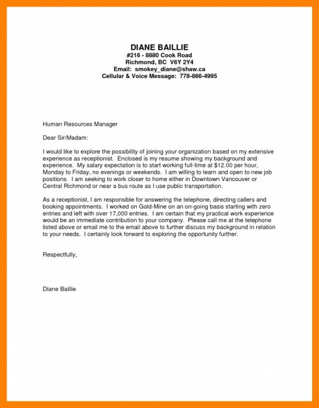 30+ Receptionist Cover Letter Cover Letter Designs Receptionist