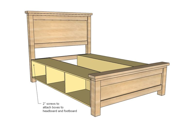 Queen size bed frame plans free woodworking projects plans - How to build a queen size bed frame with drawers ...