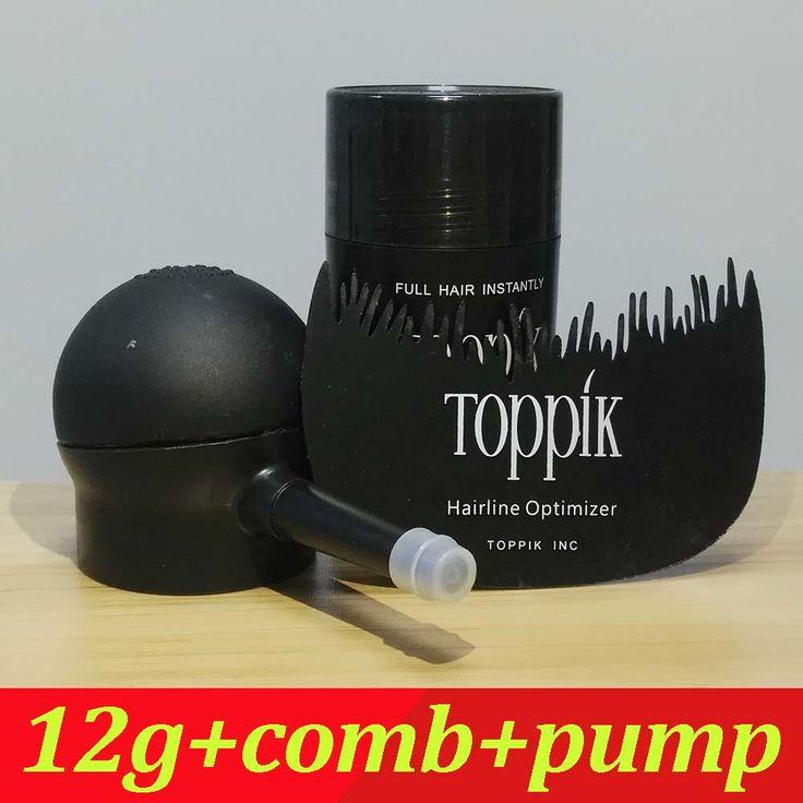 Toppik Hair Building Fibers Starter Set with Spray Applicator, 12g Hair Building Fibers 9 Colors &hairline optimizer comb