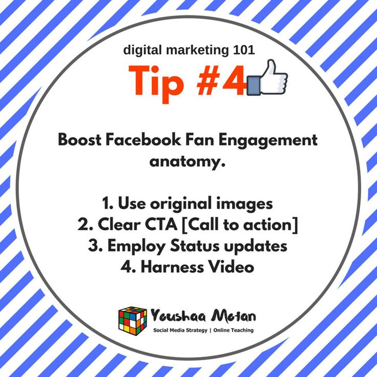 Digital Branding Tip #4 - Boost your Facebook engagement by 1. Using original images and not stock photos! Thats lame. 2. Have a clear call to action and add value to peoples lives. 3. Employ status updates to give friends and fans a glimpse into your daily life thus humanising your brand. 4. Harness the power of video. Video is the future of all social interactions.