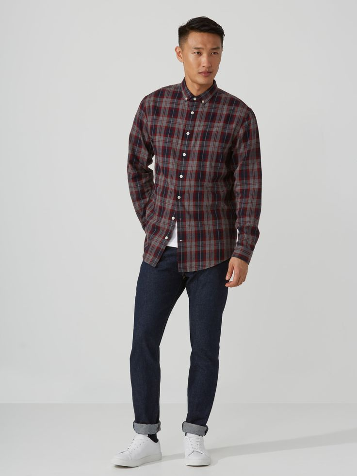 Plaid Flannel Shirt in Fired Brick   Frank And Oak