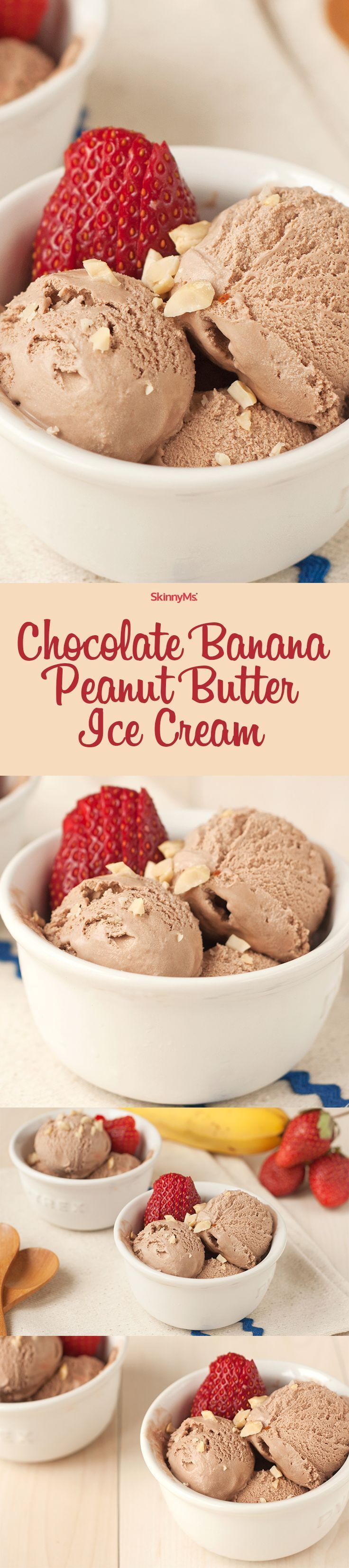 Enjoy our Chocolate Peanut Butter Banana Ice Cream for a high protein, healthy snack that feels incredibly indulgent and won't break your waistline!