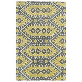 Kaleen Global Inspiration Yellow Rectangular Indoor Handcrafted Southwestern Area Rug (Common: 9 X 12; Actual: 9-Ft W X