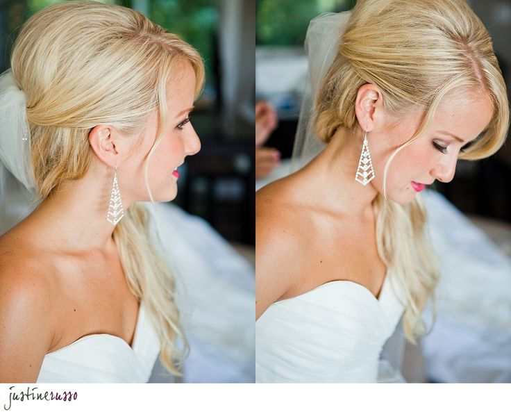 Pretty and simple half up half down wedding hair