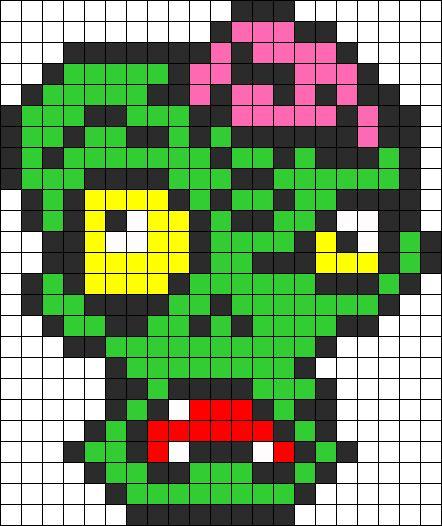 Zombie Perler bead pattern