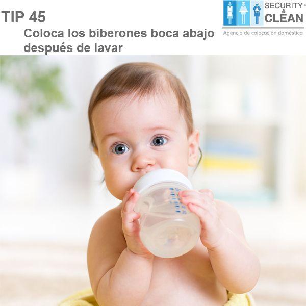#Tip Si hay bebés en casa, recuerda que después de lavar los biberones debes colocarlos boca abajo y en un lugar ventilado