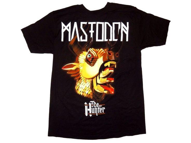 Mastodon Band Shirt Men's Size S Small The Hunter New Official Black Cotton Tee #Mastodon #GraphicTee