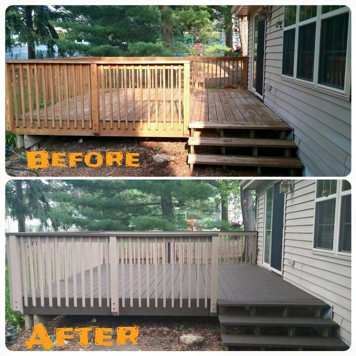 I like the two-tone of the refinished deck. @ebit100  this is exactly what im goin to do