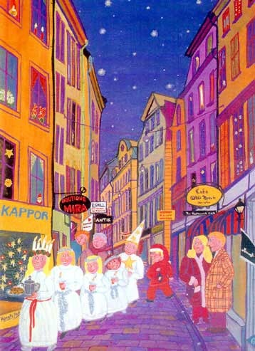 Santa Lucia Day—Sweden, Denmark, Norway, and many other countries