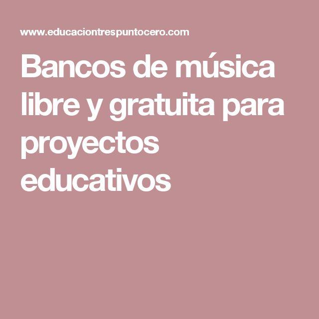 Bancos de música libre y gratuita para proyectos educativos