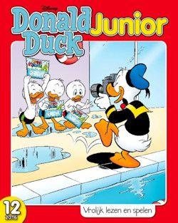 Proefabonnement: 6x Donald Duck Junior € 15,-: Donald Duck Junior is het jongere broertje van Donald Duck. Het blad is bestemd voor kinderen van 6 tot 7 jaar die net zijn begonnen met (leren) lezen.