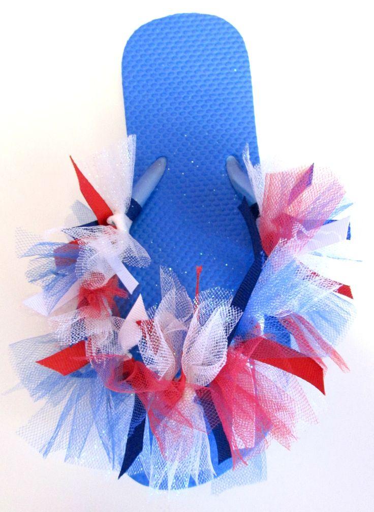 Cute craft for girls to make:  Tied Ribbon Tutu Flip Flops Tutorial | Alwaysunderpay Blog