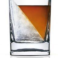 Whiskyglas Whiskey Wedge mit innovativer Eisform Tumbler Eiswürfel Glas