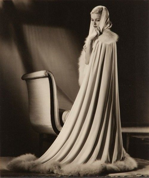Joan Bennett in Cecil Beaton gown from 'Woman in The Window' by Ernest A. Bachrach (RKO 1944)