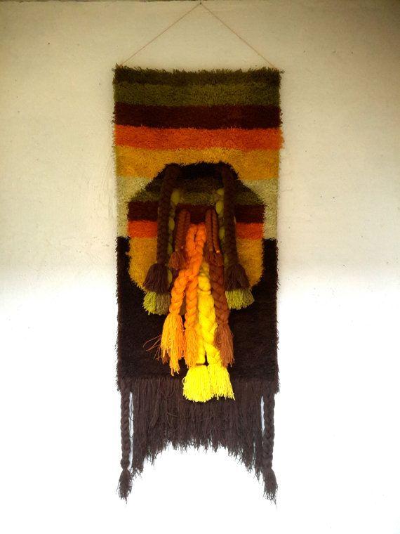 abstract wandtapijt XL wandkleed 70s smyrna door FunkyPastPresents