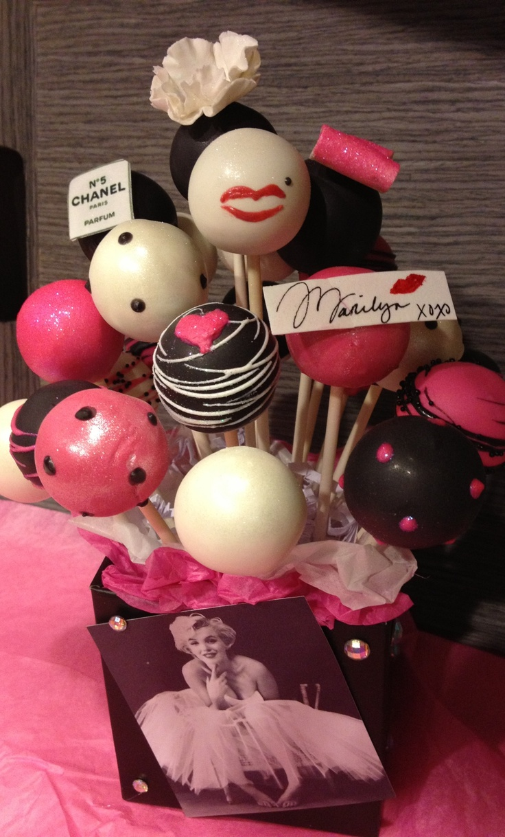 Marilyn Monroe cake pops by Haute Pop Couture