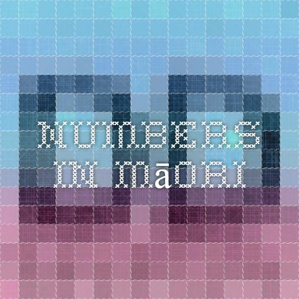Numbers in Māori