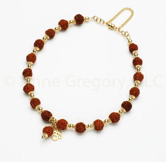 Vedic Power Rudraksha Wrist Mala Bracelet, Rudraksha Jewelry, Rudraksha Seed, Rudraksha Bead, Hindu Prayer Beads, Buddhist Prayer Beads