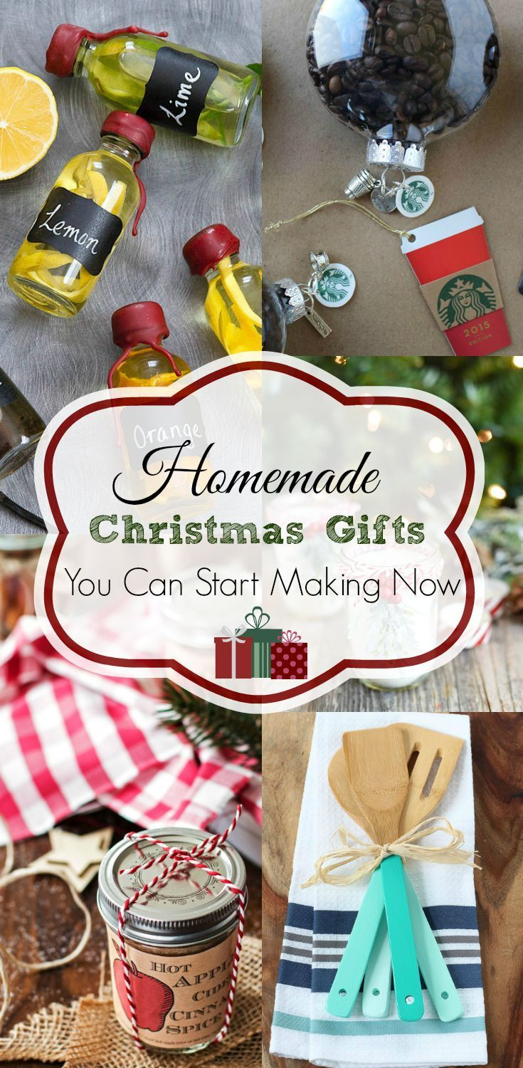 25+ DIY Christmas gifts you can start making now so Christmas is less stressful!