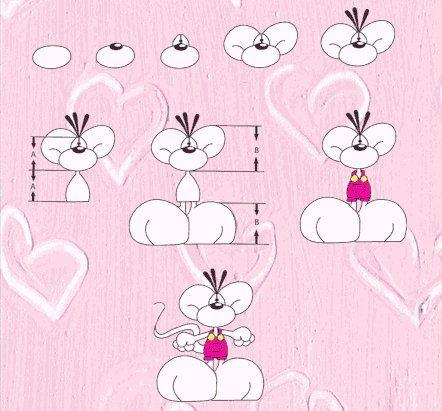 Disegnare Diddl - disegnare Pimboli - www.diddlmania.com