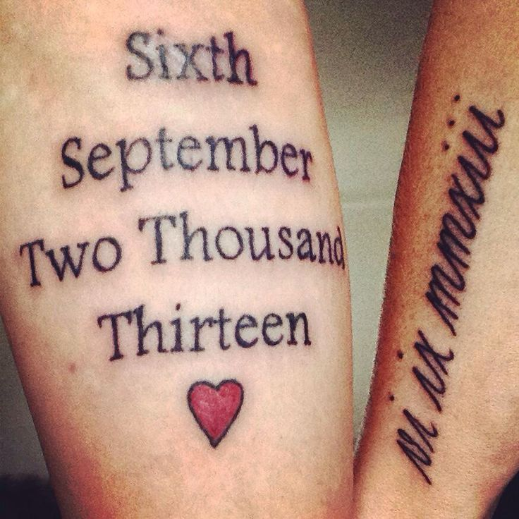 His & Hers Wedding Date Tattoos ️