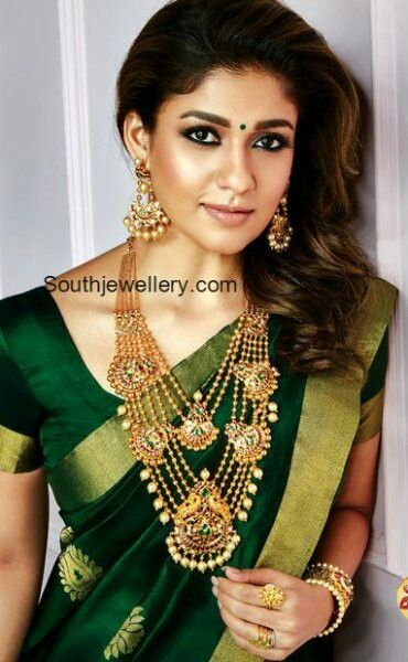 Dark moss green n gold kanjeevaram saree