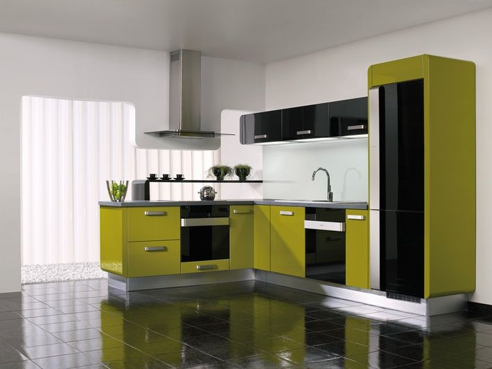 Lime Green Is Gaining Its Pority For The Cheery Air It Gives And Nature Feel Emits Best When You Are Expecting A Kitchen With