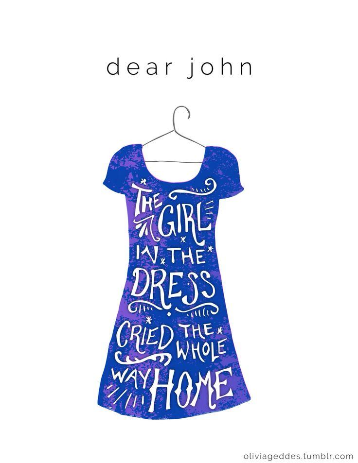Dear John Taylor Swift handlettering