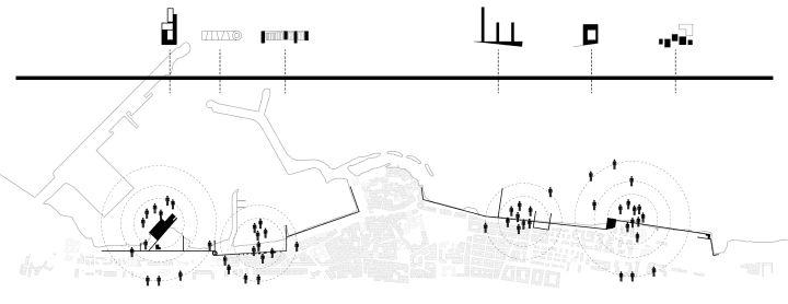 HOLD THE LINE | E13 WINNER. MOLFETTA, ITALIA - schematic plan - collettivo arcipelago