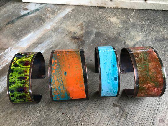 Acrylic Pour Art Handcrafted Bracelet