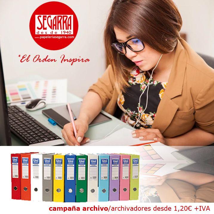 archivadores de colores material de oficina http://papeleria-segarra.blogspot.com.es/2016/01/archivo-el-orden-inspira.html