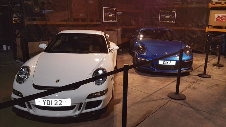 Robert Woodside who is driving in this years Circuit of Ireland rally, kindly lent his precious Porsches for the opening event of Craigmore's new Karcher centre