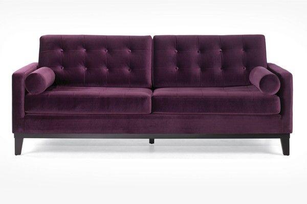 I need this!! Now. Hollywood Crushed Velvet Sofa EGGPLANT #APT2BLabor