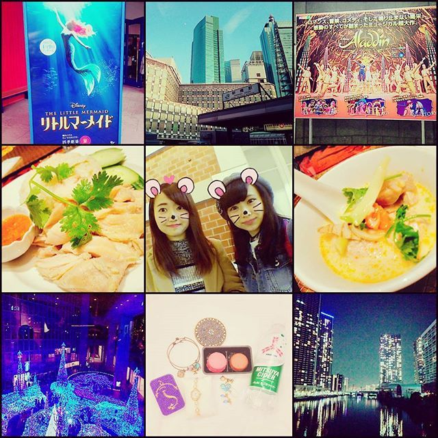 Instagram【asuka_0072】さんの写真をピンしています。 《#昨日 #東京 #旅行 #劇団四季リトルマーメイド  #劇団四季アラジン  #タイ料理 #夜景》