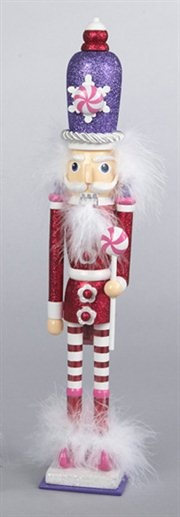 Candy Fantasy Decorative Red Wooden Candy Kingdom Christmas Nutcracker
