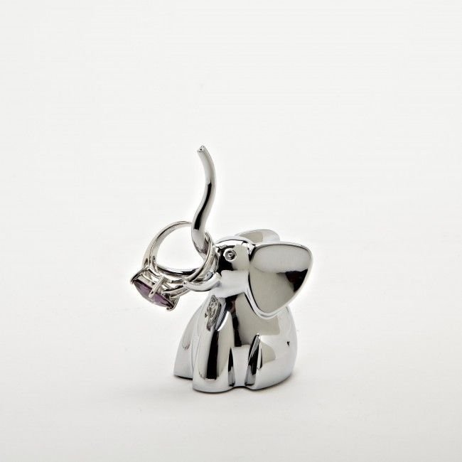 Keep your jewelry organized and easy to see with the Umbra Zoola Elephant Ring Holder.