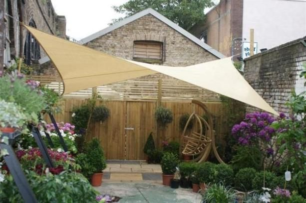 Backyard patio shade ideas home decore pinterest for Small patio shade ideas